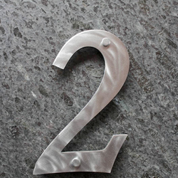 Stainless steel numbers 0 - 9