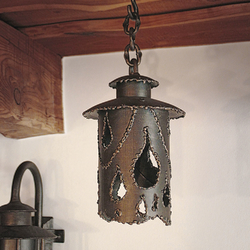 A hand-forged indoor light - stylish hanging light