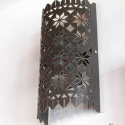 Forged wall lampshade with lace pattern - design lampshade