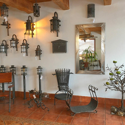 The Blacksmith Art Studio UKOVMI – showroom – forged lighting and other accessories