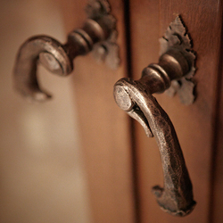 Wrought iron handles