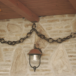 A wrought iron chain