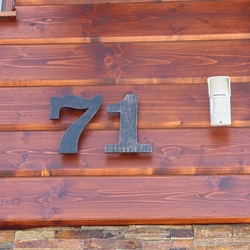 Wrought iron numbers