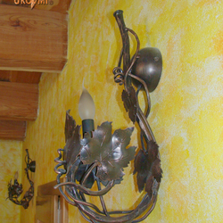 A wrought iron side lamp - vine