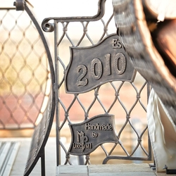 A wrought iron year of production